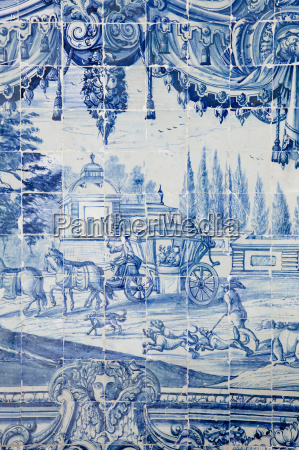 historical azulejos the blue glazed ceramic