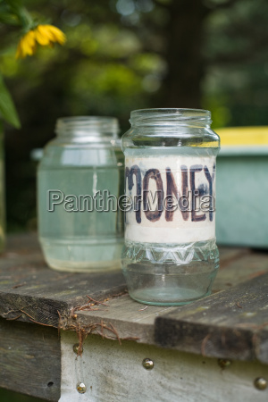money jar at pick your own