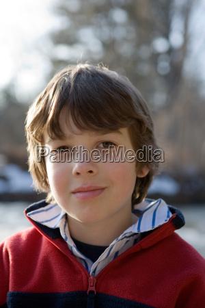 portrait of boy close up