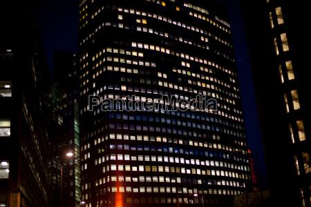 skyscraper at night london england