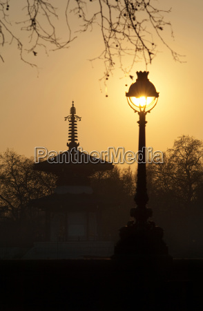 an old bandstand and street light