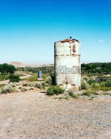 water tank in rural setting new
