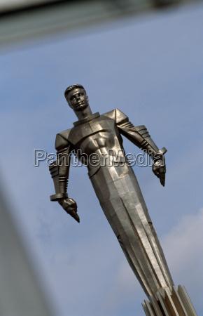 statue des kosmonauten yuri gagarinder erste