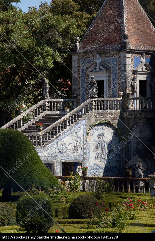 statuen, und, alte, azulejos, die, ikonischen, blau - 19452278