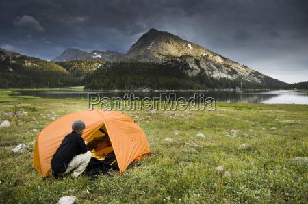 man camping near big sandy lake