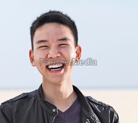 portrait of smiling young man at