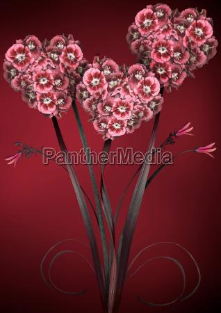 illustration of bright flowers