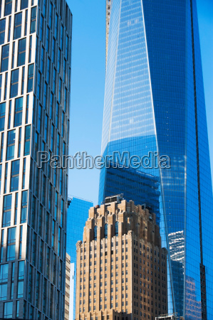 modern skyscrapers in manhattan new york