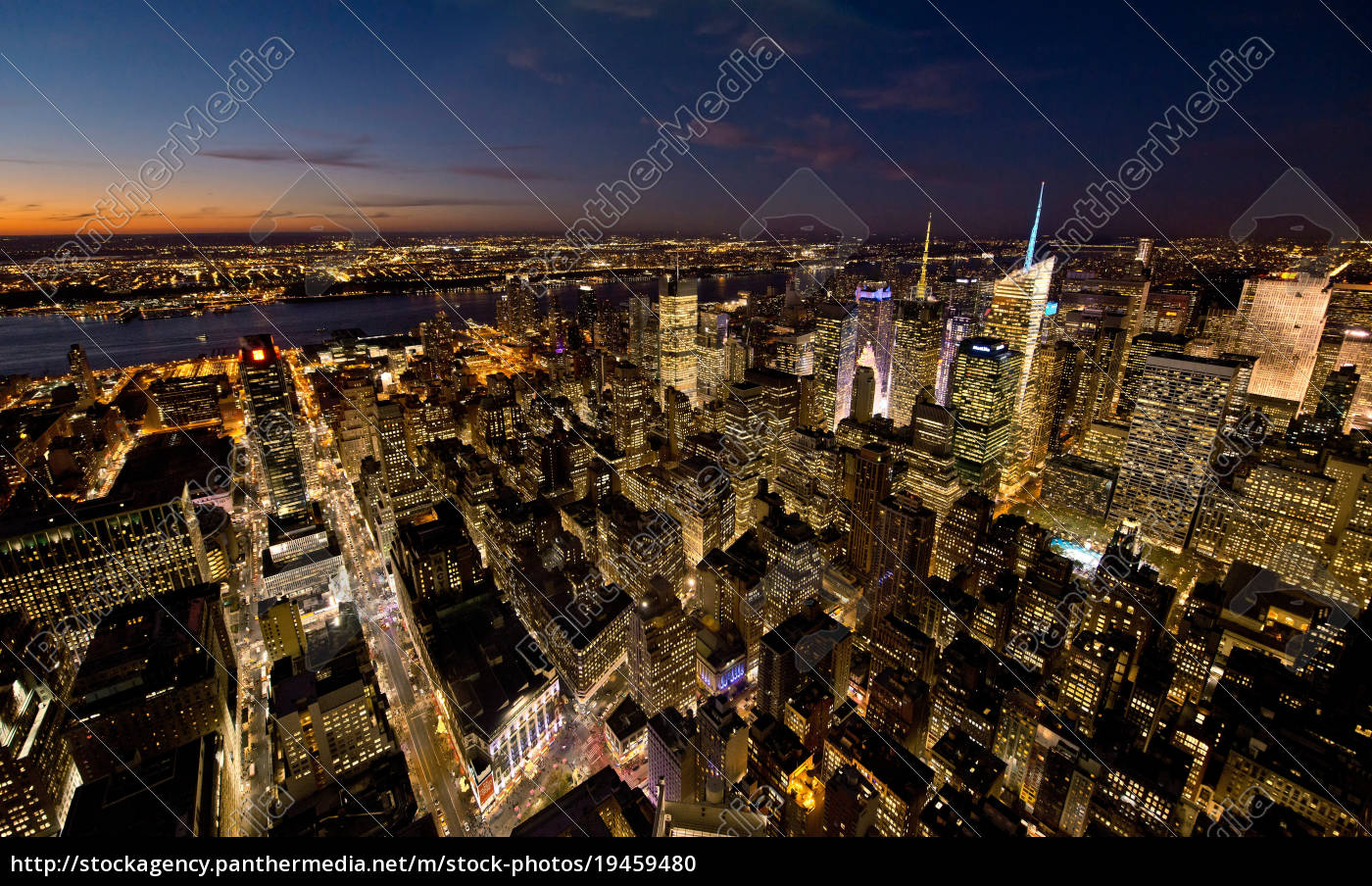 blick, auf, manhattan, new, york, city, usa - 19459480