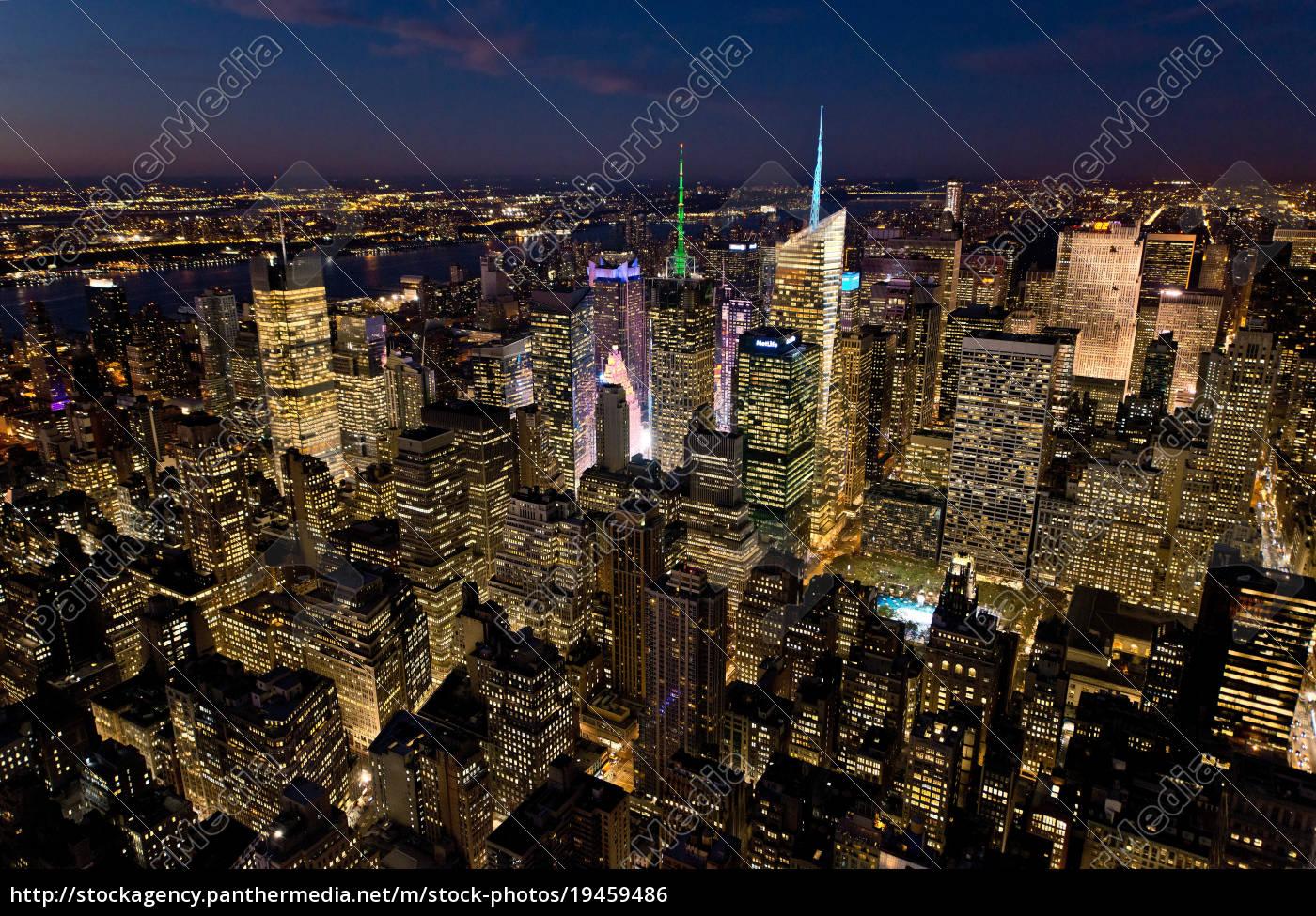 blick, auf, manhattan, new, york, city, usa - 19459486