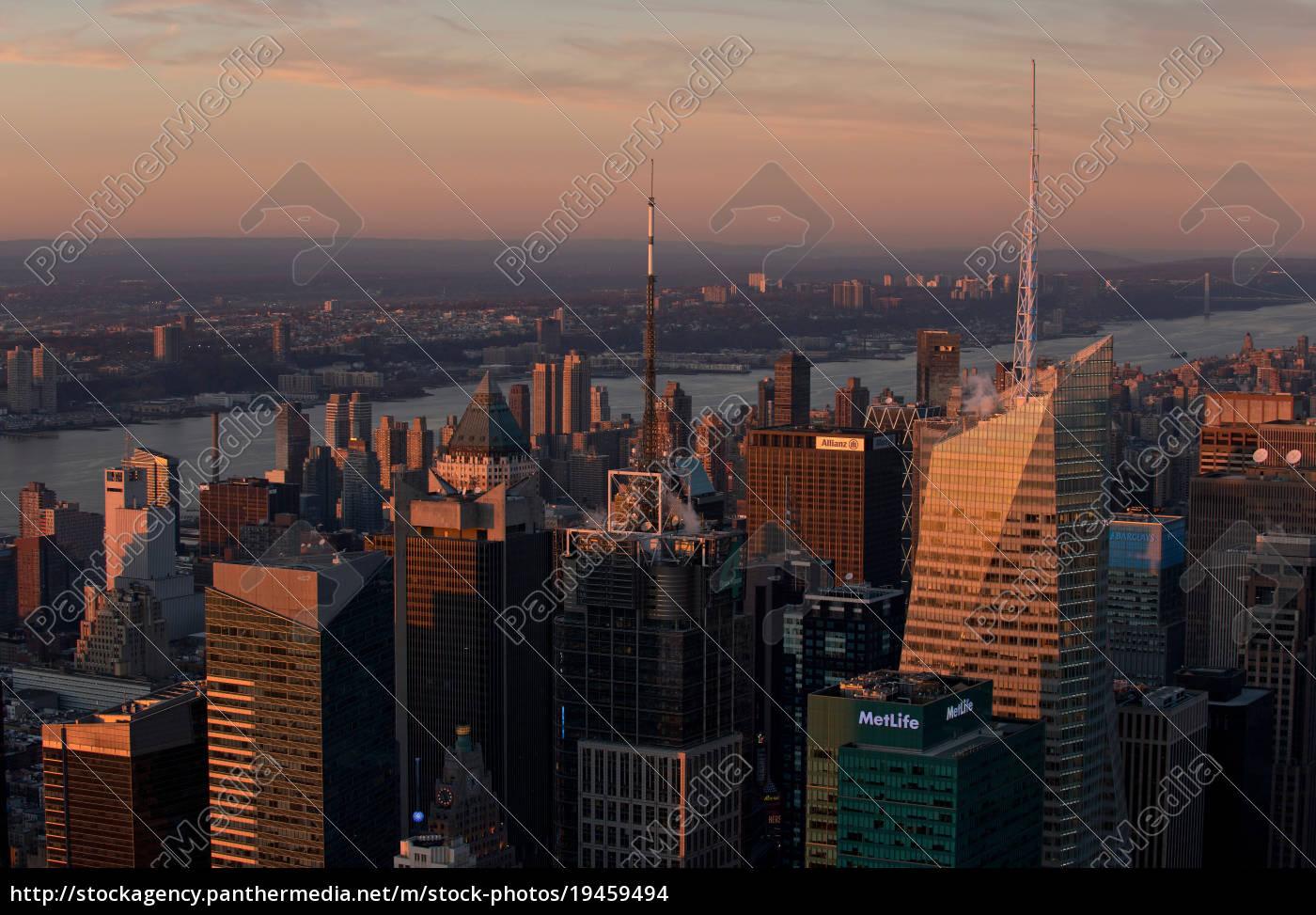 blick, auf, manhattan, new, york, city, usa - 19459494