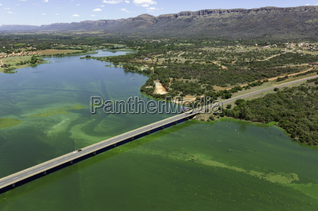 aerial view of hartebeesport dam and