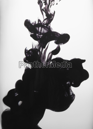 black liquid in water