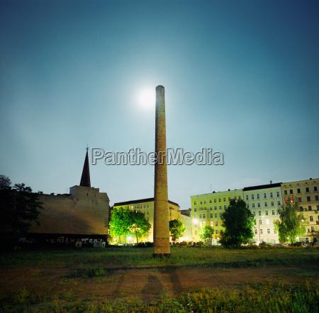 stadt industrie nacht nachtzeit berlin deutschland