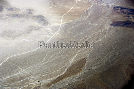 aerial view of desert california usa