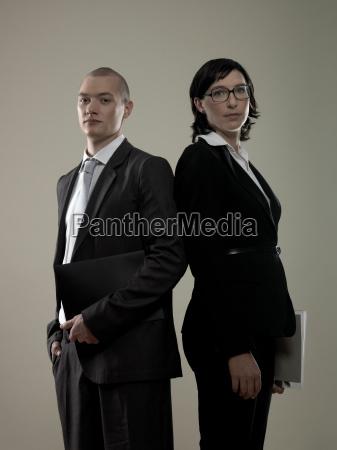 two business colleagues portrait