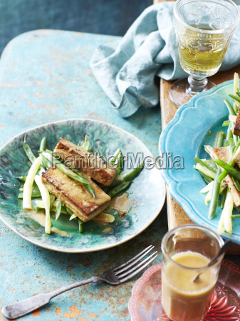 still life of bean tofu with