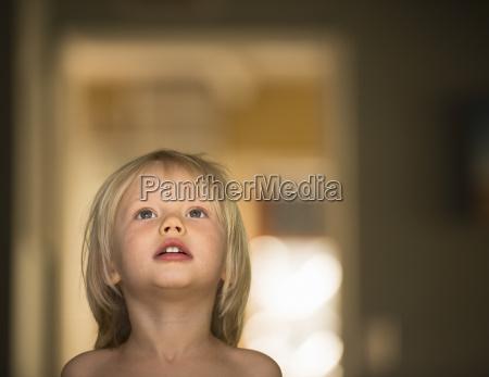 portrait of three year old boy