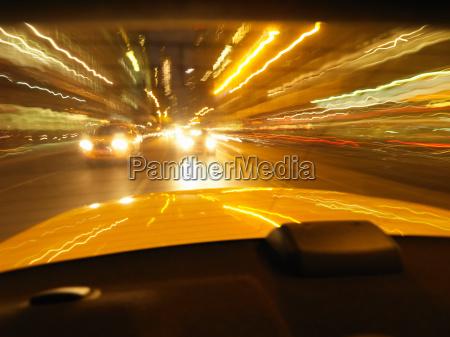 nighttime moving shot