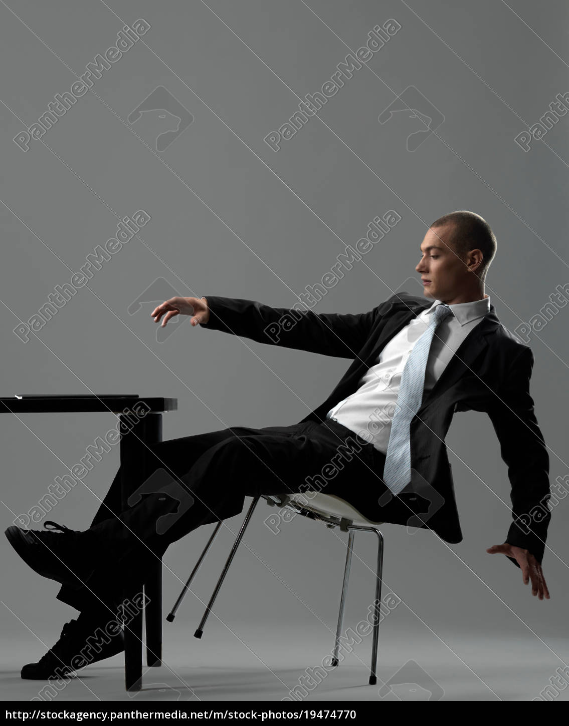 business, man, falling, from, chair - 19474770