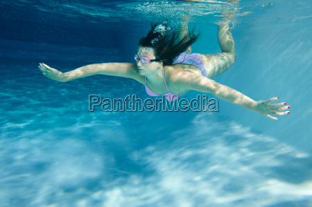 woman, in, swimming, pool - 19474846