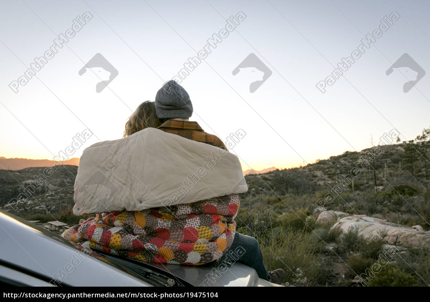 rear, view, of, young, couple, by - 19475104