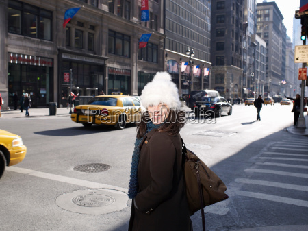 woman in new york street