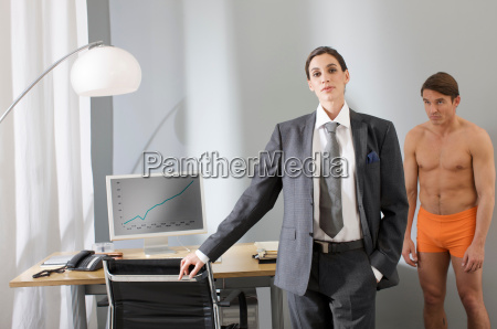 business woman in charge