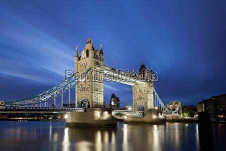 tower bridge in london lit up