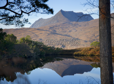 view of calm loch and mountains
