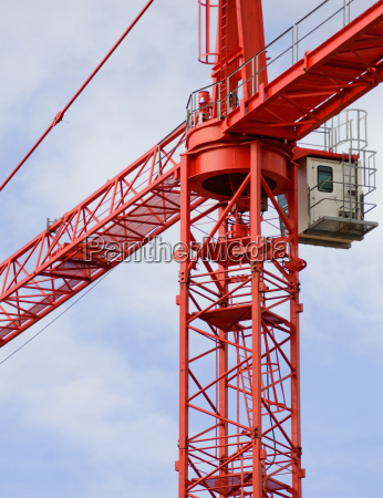 details of crane during construction