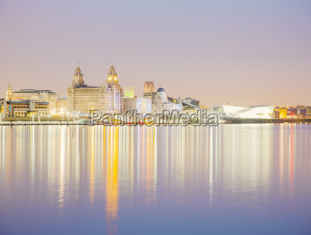 liver building and river mersey at