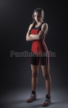 portrait of a female wrestler