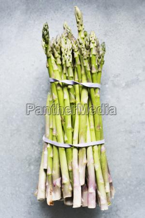 still life of asparagus bunch in