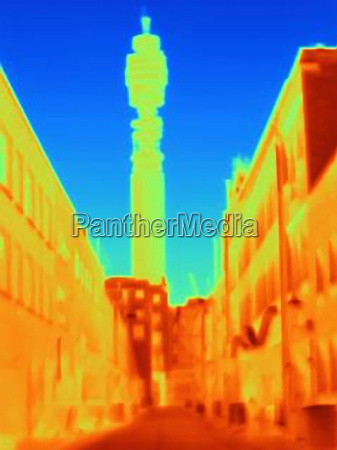 thermal image of bt tower