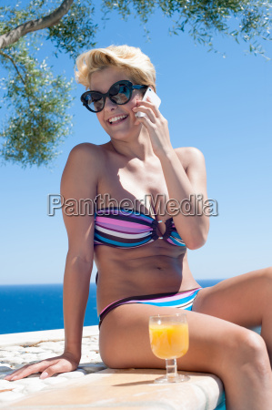 woman talking on cell phone by