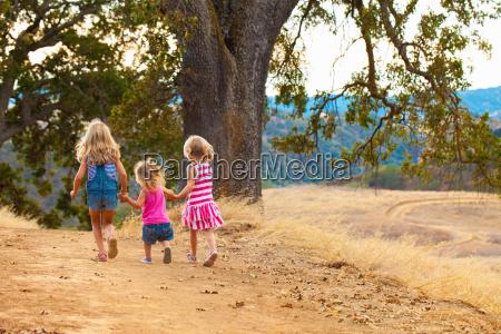 girls taking walk mt diablo state