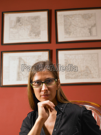 business woman looking at camera