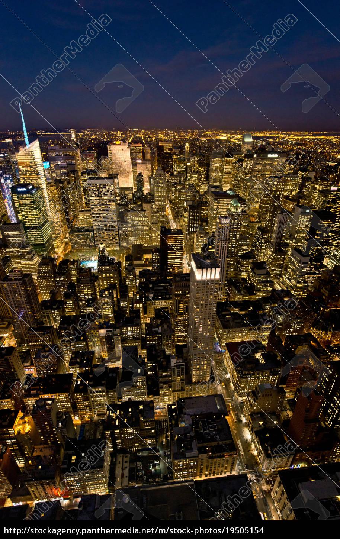 blick, vom, empire, state, building, manhattan, new, york - 19505154