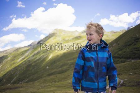 portrait of boy tyrol austria