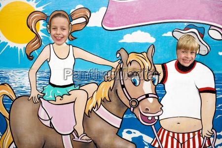 seaside cartoon board