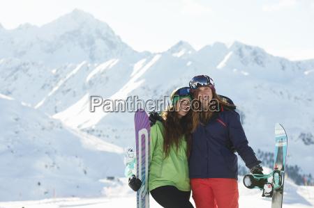 freunde, mit, snowboards, kuhtai, Österreich - 19506930