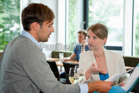 business people having lunch meeting