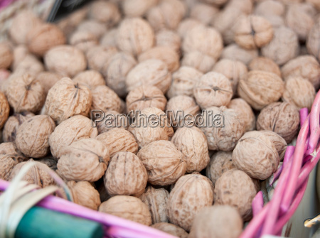 walnuts at a market in valence