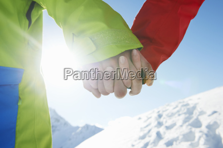 couple, holding, hands, , close-up, , kuhtai, , austria - 19512902