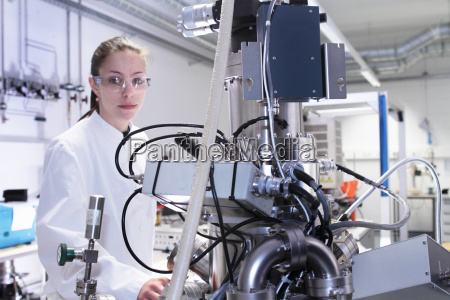 portrait of female lab technician with