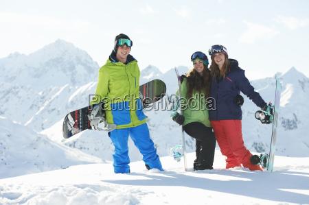 freunde, mit, snowboards, kuhtai, Österreich - 19514292