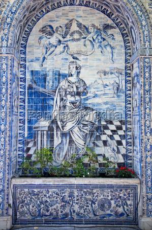 old, azulejos, , the, iconic, blue-glazed, ceramic - 19517810