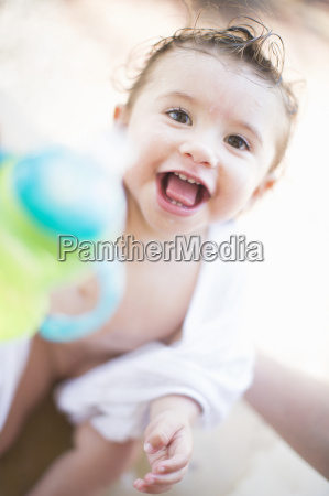 close, up, portrait, of, smiling, baby - 19523264