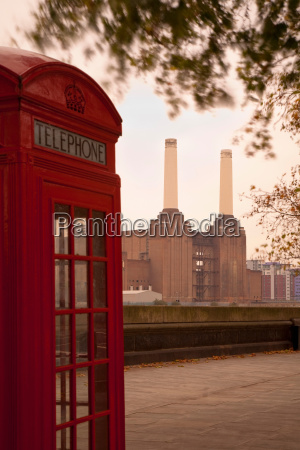 telephone and battersea power station